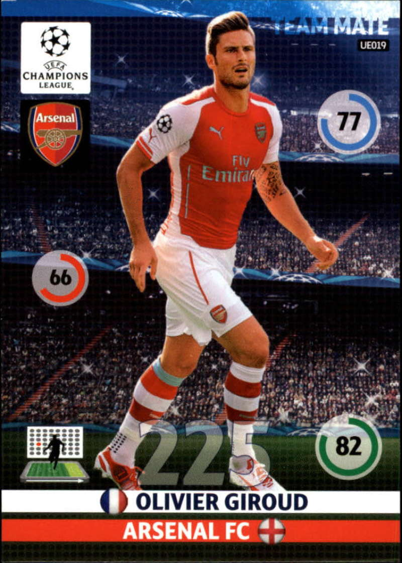 2014-15 UEFA Champions League Adrenalyn XL Update Edition Soccer #UE019 Olivier Giroud Arsenal  Official Futbol Trading Card by Panini