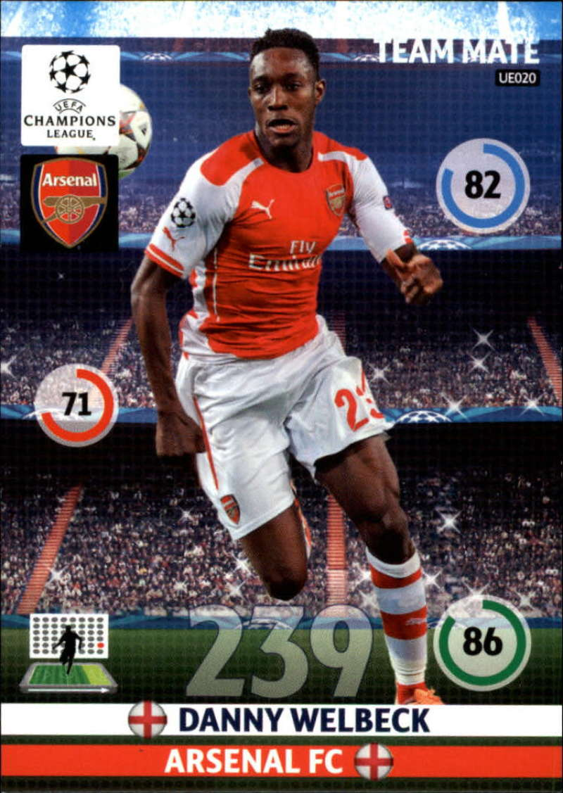 2014-15 UEFA Champions League Adrenalyn XL Update Edition Soccer #UE020 Danny Welbeck Arsenal  Official Futbol Trading Card by Panini