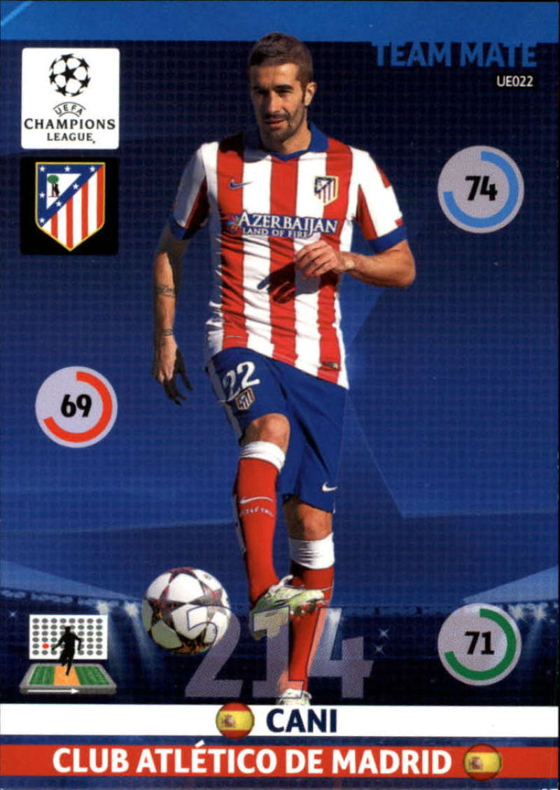 2014-15 UEFA Champions League Adrenalyn XL Update Edition Soccer #UE022 Cani Atletico Madrid  Official Futbol Trading Card by Panini