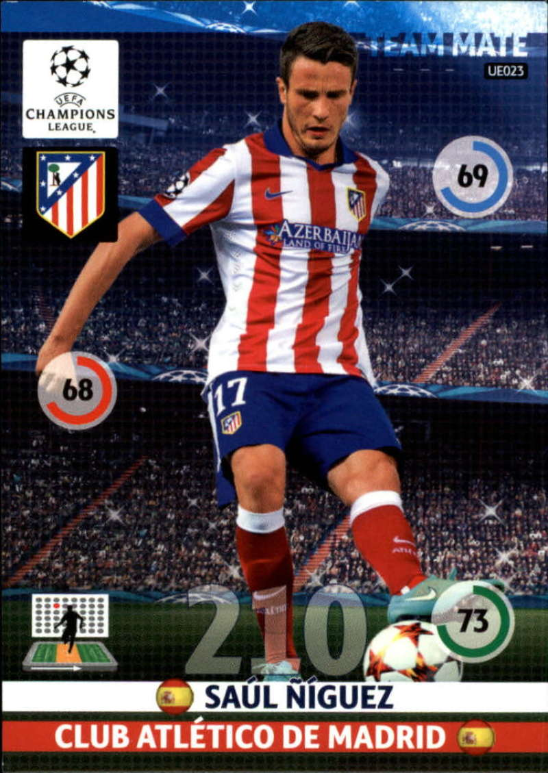 2014-15 UEFA Champions League Adrenalyn XL Update Edition Soccer #UE023 Saul Niguez Atletico Madrid  Official Futbol Trading Card by Panini