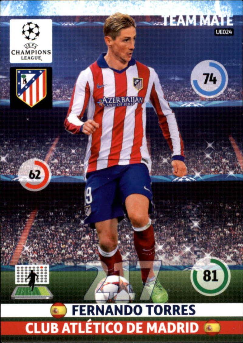 2014-15 UEFA Champions League Adrenalyn XL Update Edition Soccer #UE024 Fernando Torres Atletico Madrid  Official Futbol Trading Card by Panini