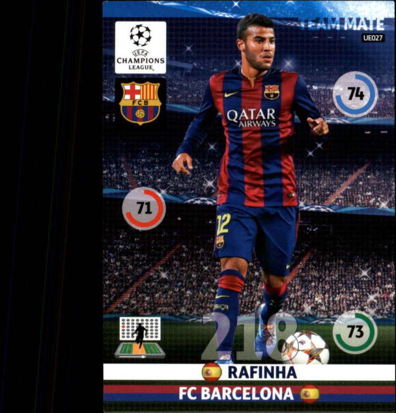 2014-15 UEFA Champions League Adrenalyn XL Update Edition Soccer #UE027 Rafinha F.C. Barcelona  Official Futbol Trading Card by Panini