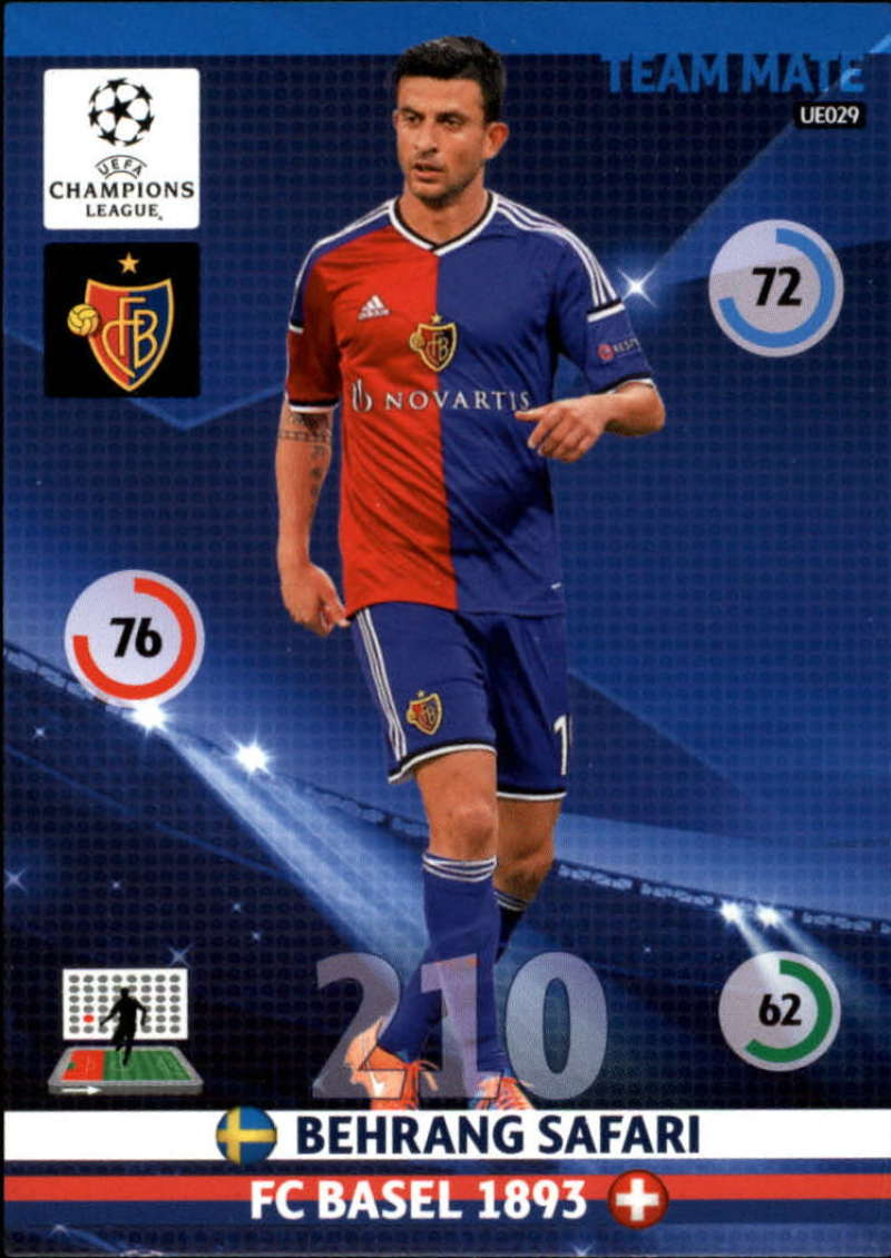 2014-15 UEFA Champions League Adrenalyn XL Update Edition Soccer #UE029 Behrang Safari FC Basel  Official Futbol Trading Card by Panini