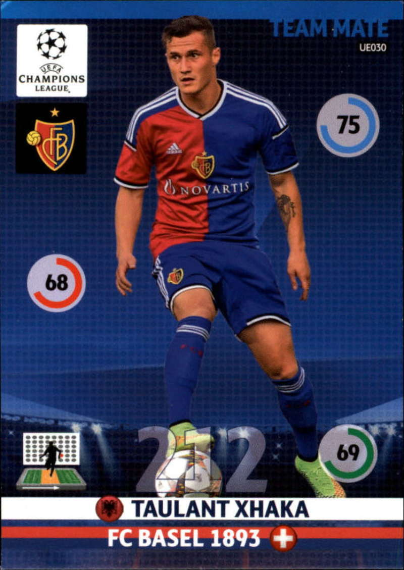 2014-15 UEFA Champions League Adrenalyn XL Update Edition Soccer #UE030 Taulant Xhaka FC Basel  Official Futbol Trading Card by Panini