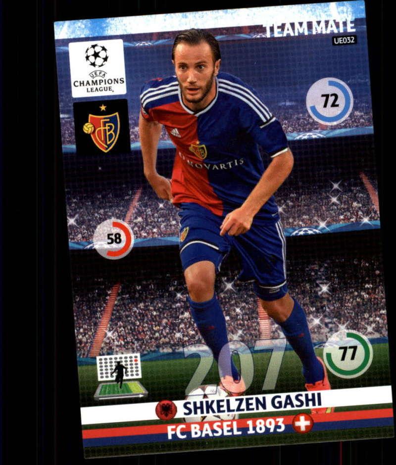 2014-15 UEFA Champions League Adrenalyn XL Update Edition Soccer #UE032 Shkelzen Gashi FC Basel  Official Futbol Trading Card by Panini