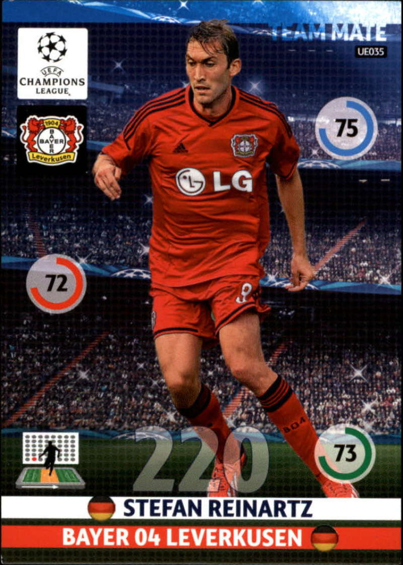 2014-15 UEFA Champions League Adrenalyn XL Update Edition Soccer #UE035 Stefan Reinartz Bayer 04 Leverkusen  Official Futbol Trading Card by Panini