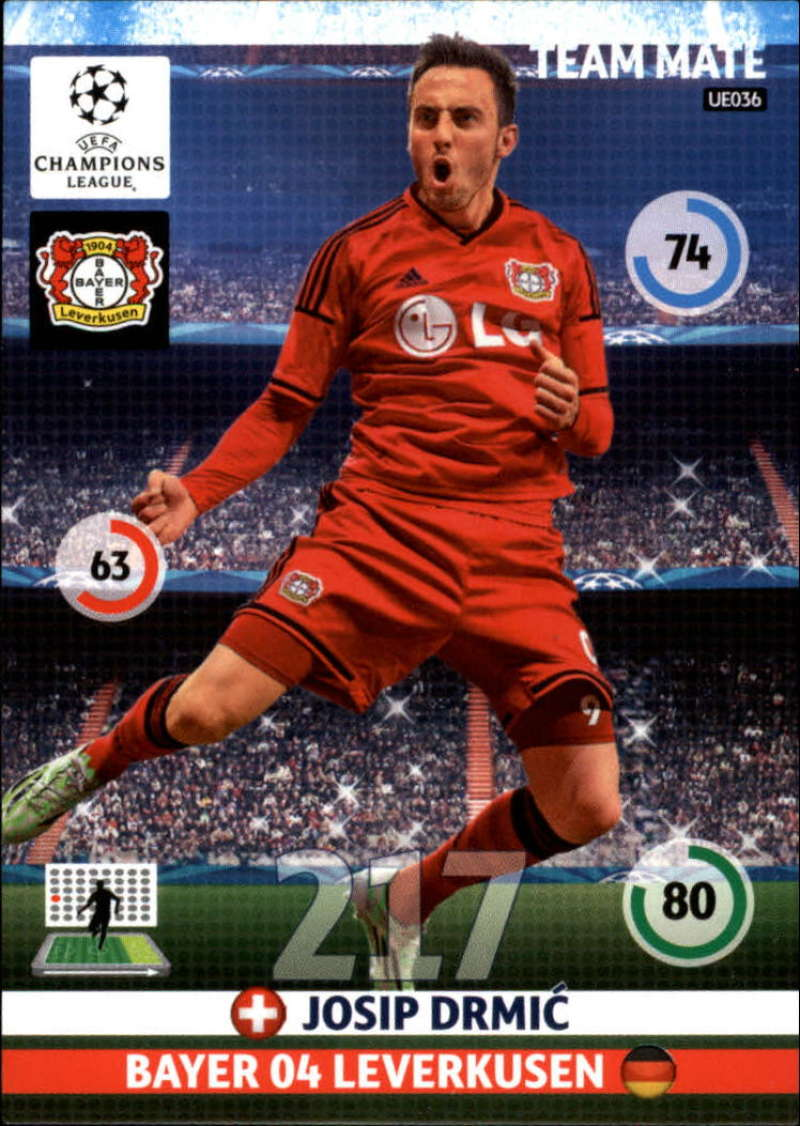 2014-15 UEFA Champions League Adrenalyn XL Update Edition Soccer #UE036 Josip Drmic Bayer 04 Leverkusen  Official Futbol Trading Card by Panini