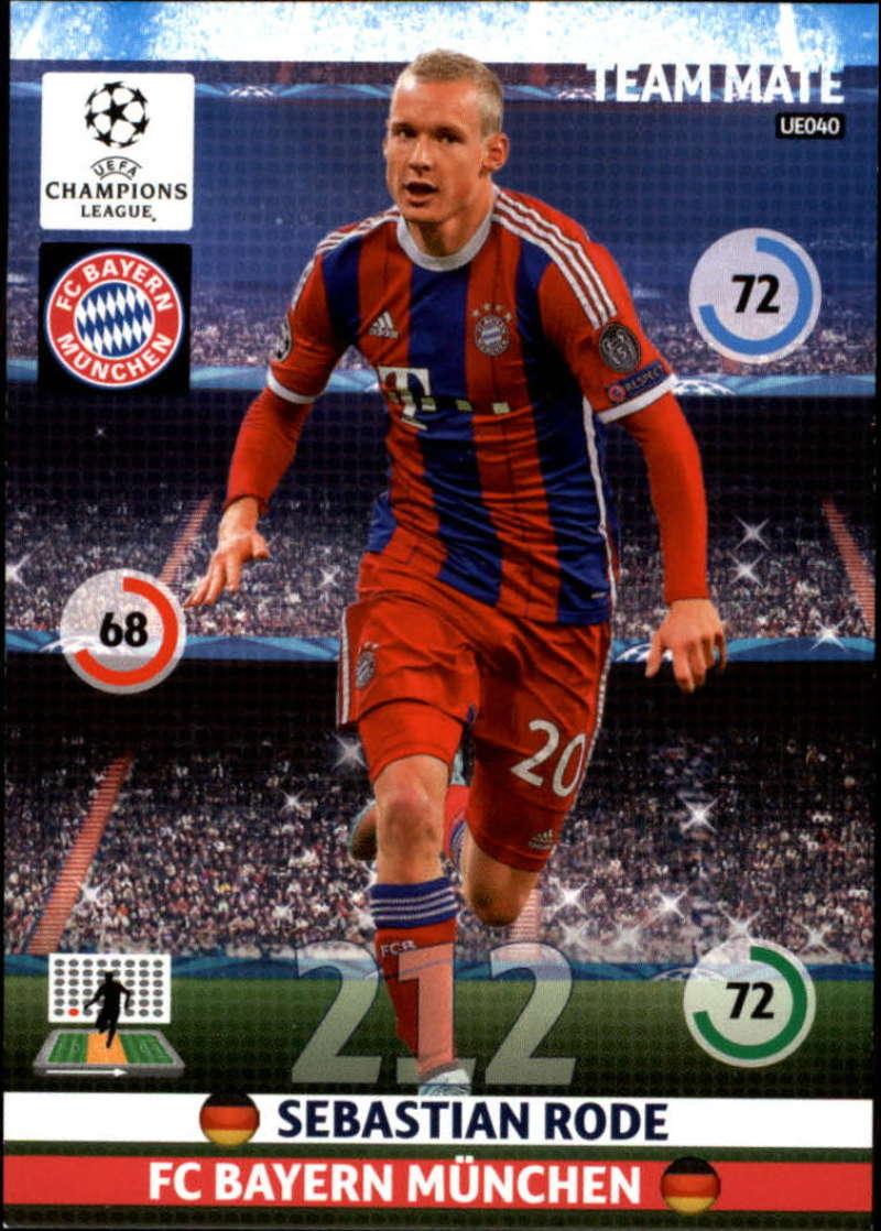 2014-15 UEFA Champions League Adrenalyn XL Update Edition Soccer #UE040 Sebastian Rode Bayern Munchen  Official Futbol Trading Card by Panini