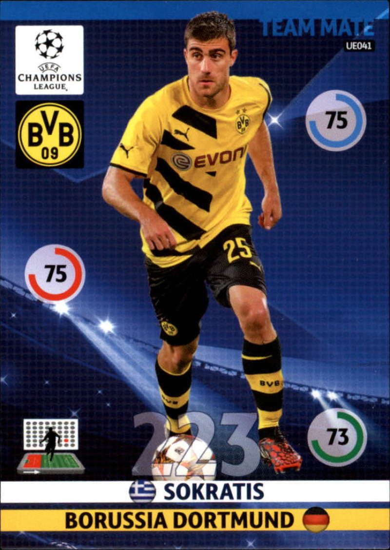 2014-15 UEFA Champions League Adrenalyn XL Update Edition Soccer #UE041 Sokratis Borussia Dortmund  Official Futbol Trading Card by Panini