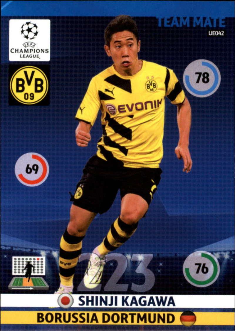 2014-15 UEFA Champions League Adrenalyn XL Update Edition Soccer #UE042 Shinji Kagawa Borussia Dortmund  Official Futbol Trading Card by Panini