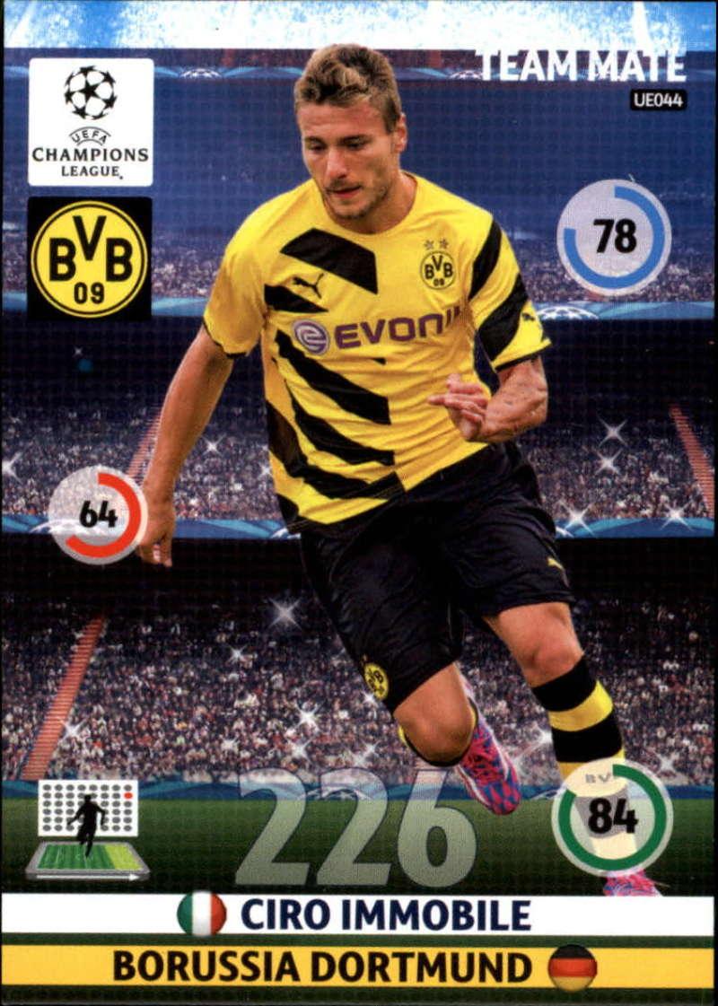 2014-15 UEFA Champions League Adrenalyn XL Update Edition Soccer #UE044 Ciro Immobile Borussia Dortmund  Official Futbol Trading Card by Panini
