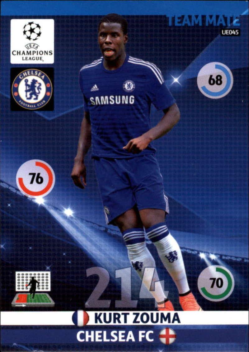 2014-15 UEFA Champions League Adrenalyn XL Update Edition Soccer #UE045 Kurt Zouma Chelsea  Official Futbol Trading Card by Panini