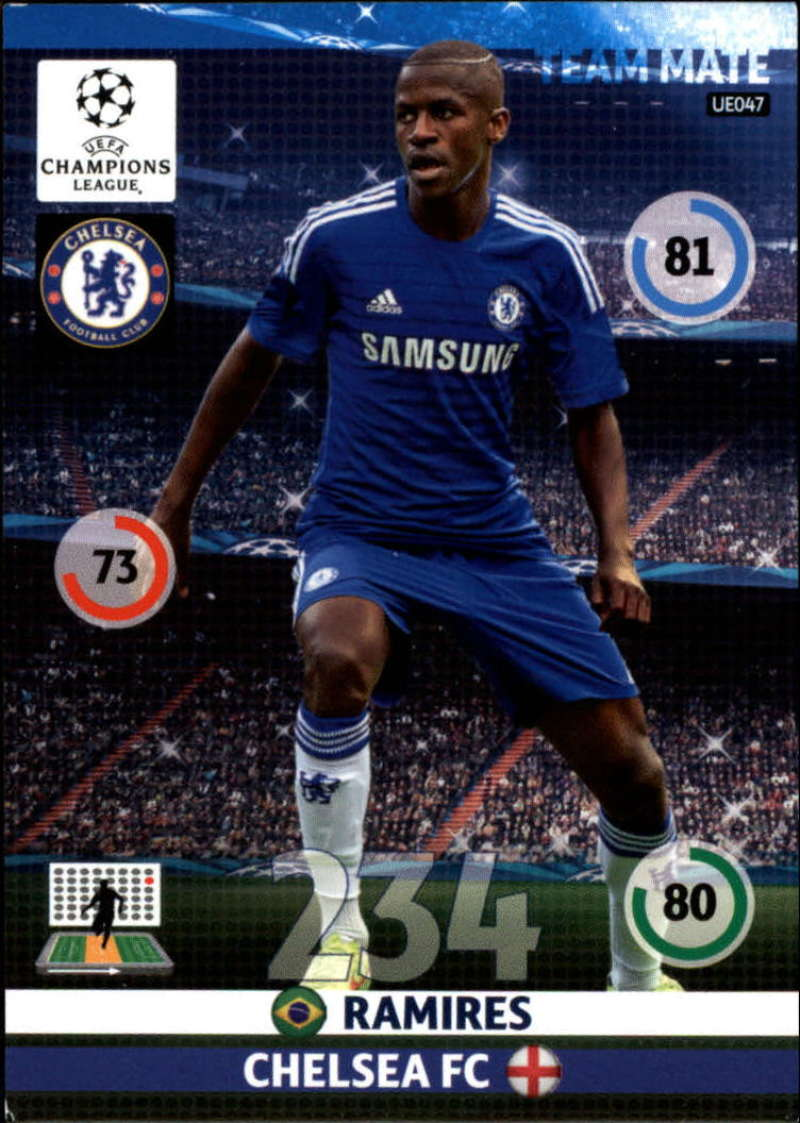 2014-15 UEFA Champions League Adrenalyn XL Update Edition Soccer #UE047 Ramires Chelsea  Official Futbol Trading Card by Panini