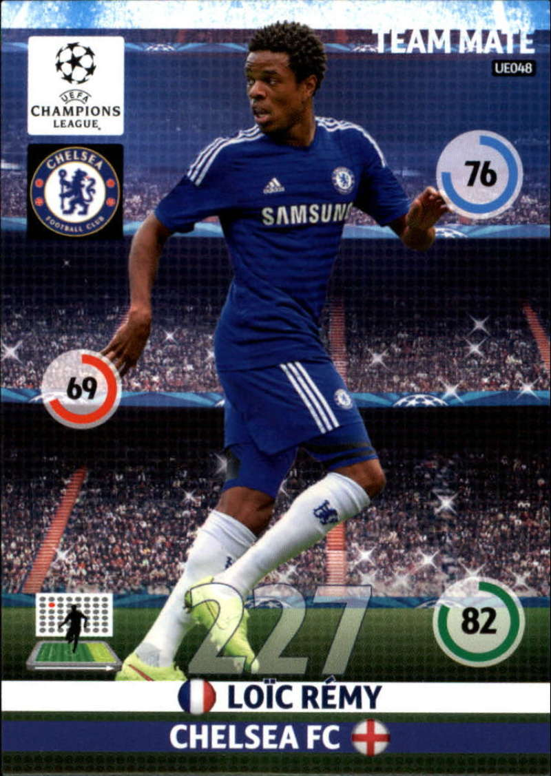 2014-15 UEFA Champions League Adrenalyn XL Update Edition Soccer #UE048 Loic Remy Chelsea  Official Futbol Trading Card by Panini