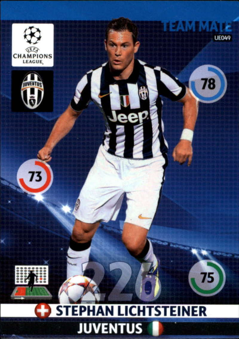 2014-15 UEFA Champions League Adrenalyn XL Update Edition Soccer #UE049 Stephan Lichtsteiner Juventus  Official Futbol Trading Card by Panini