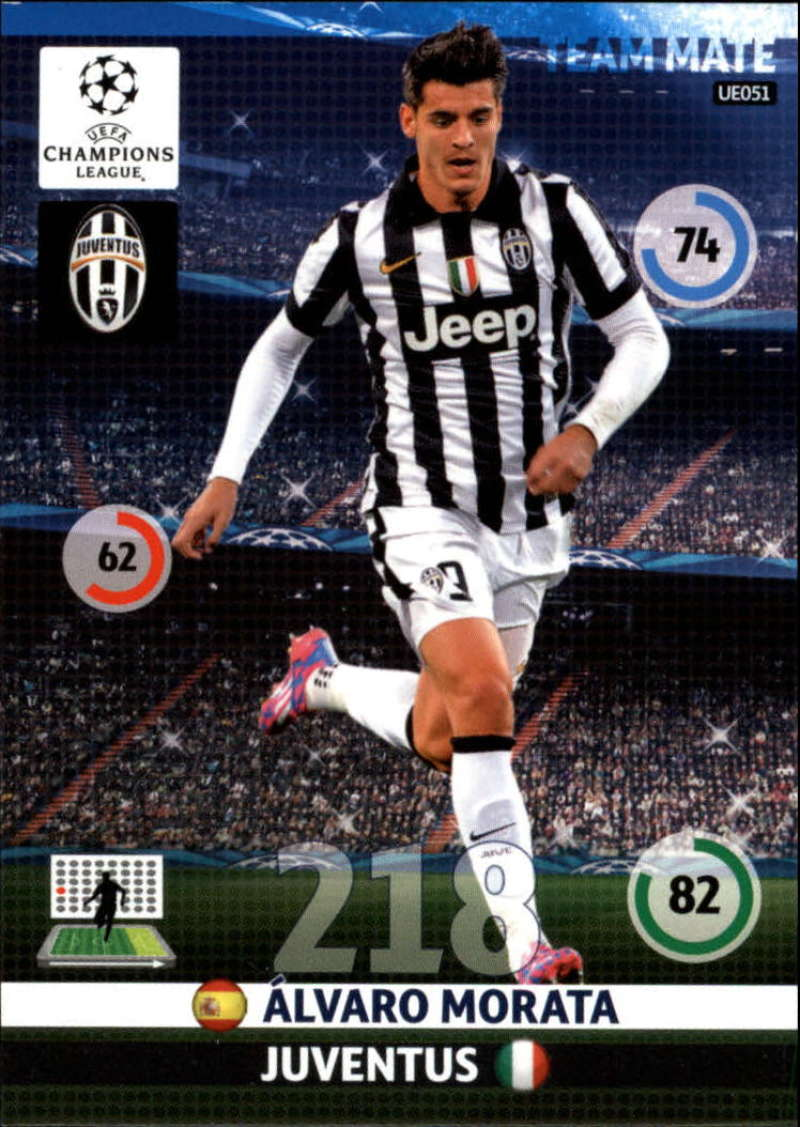 2014-15 UEFA Champions League Adrenalyn XL Update Edition Soccer #UE051 Alvaro Morata Juventus  Official Futbol Trading Card by Panini