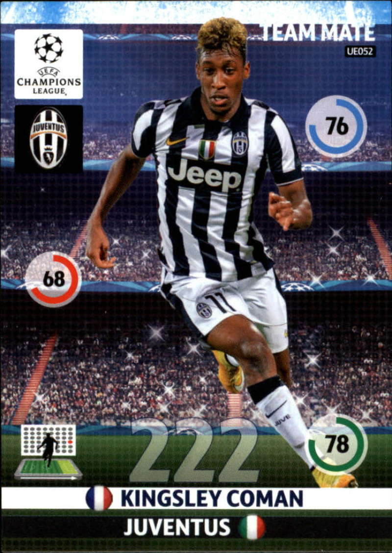 2014-15 UEFA Champions League Adrenalyn XL Update Edition Soccer #UE052 Kingsley Coman Juventus  Official Futbol Trading Card by Panini