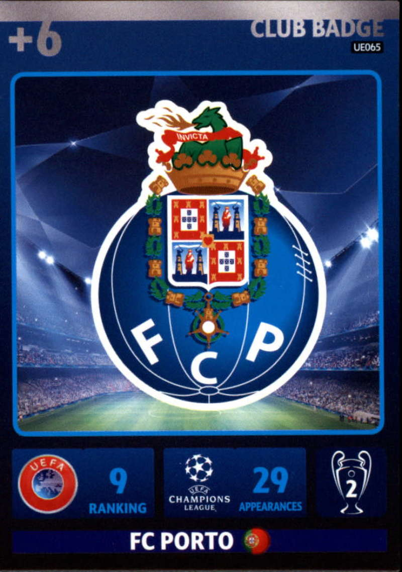 2014-15 UEFA Champions League Adrenalyn XL Update Edition Soccer #UE065 Porto Logo Porto  Official Futbol Trading Card by Panini