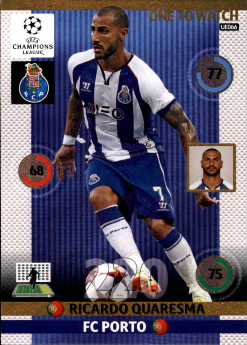 2014-15 UEFA Champions League Adrenalyn XL Update Edition Soccer #UE066 Ricardo Quaresma Porto  Official Futbol Trading Card by Panini
