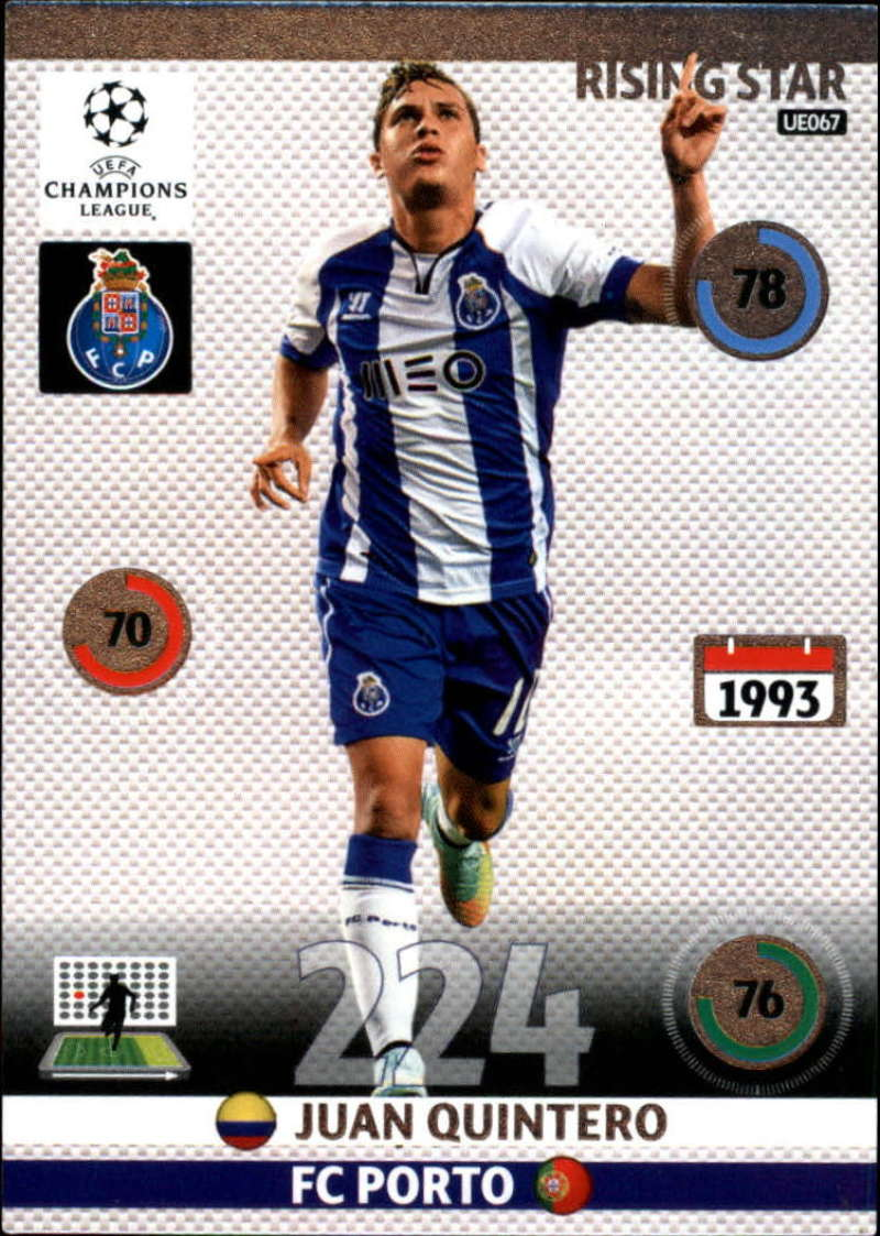 2014-15 UEFA Champions League Adrenalyn XL Update Edition Soccer #UE067 Juan Quintero Porto  Official Futbol Trading Card by Panini