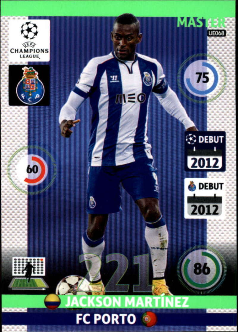 2014-15 UEFA Champions League Adrenalyn XL Update Edition Soccer #UE068 Jackson Martinez Porto  Official Futbol Trading Card by Panini