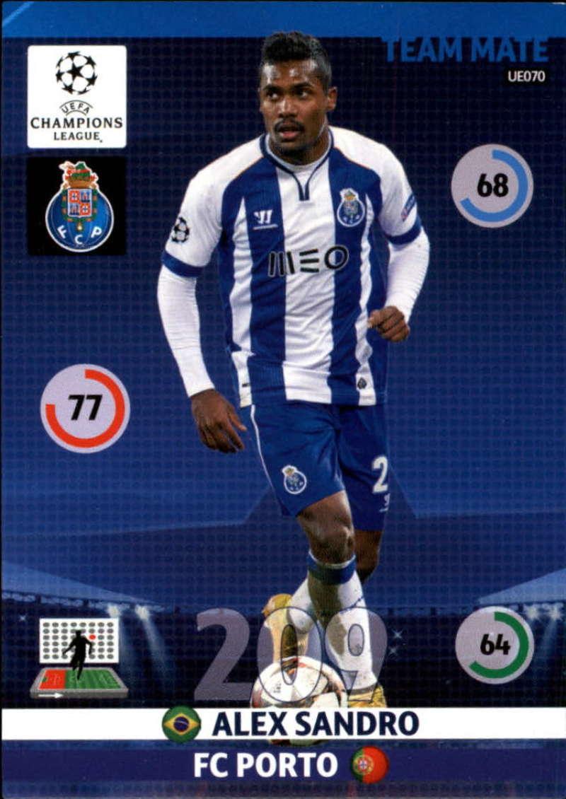 2014-15 UEFA Champions League Adrenalyn XL Update Edition Soccer #UE070 Alex Sandro Porto  Official Futbol Trading Card by Panini