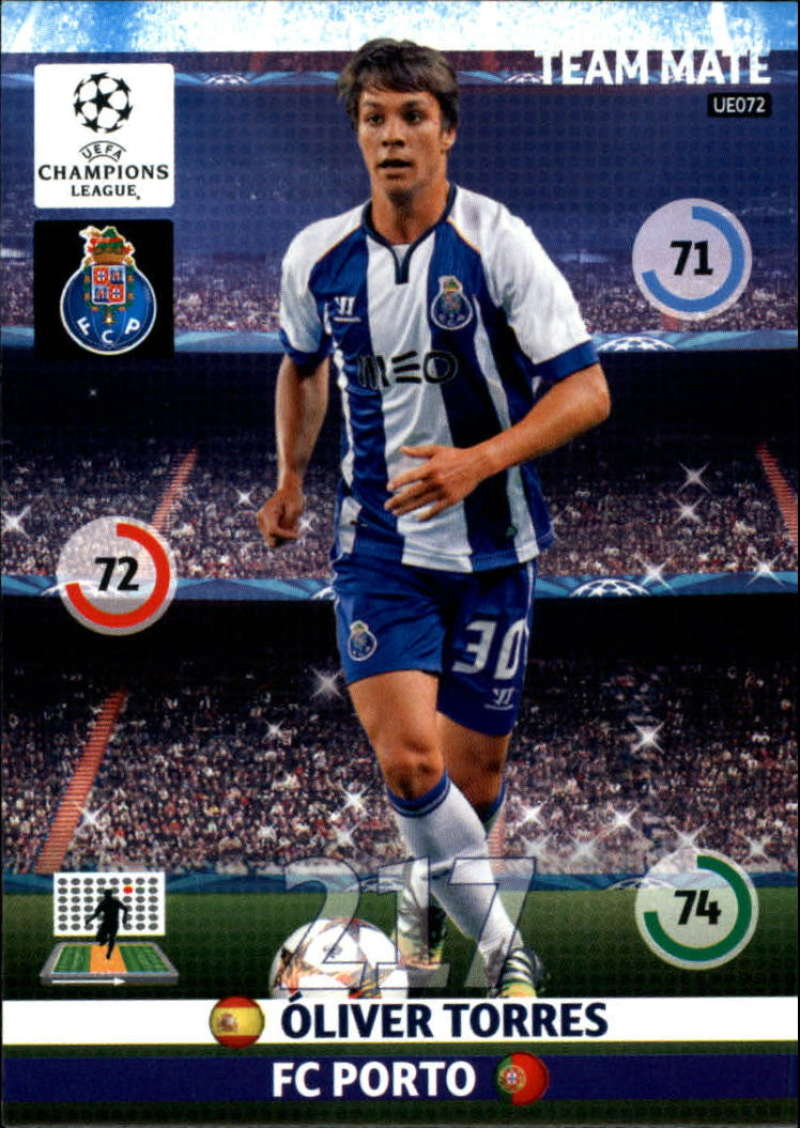2014-15 UEFA Champions League Adrenalyn XL Update Edition Soccer #UE072 Oliver Torres Porto  Official Futbol Trading Card by Panini