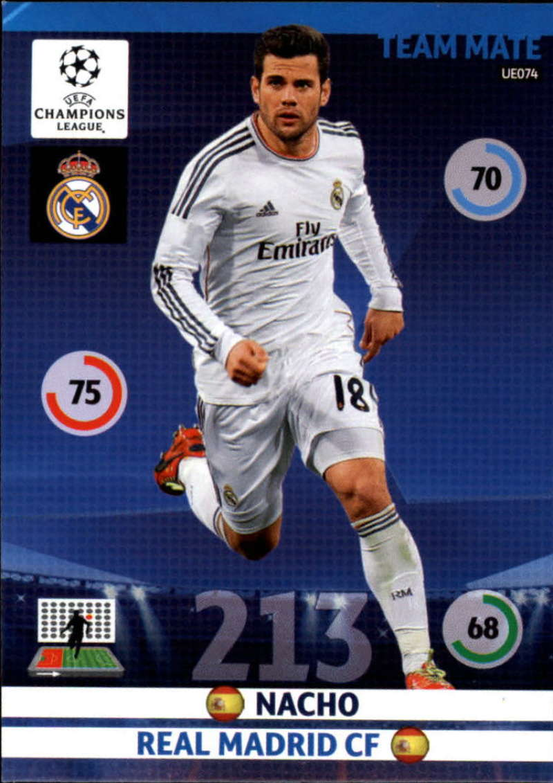 2014-15 UEFA Champions League Adrenalyn XL Update Edition Soccer #UE074 Nacho Real Madrid  Official Futbol Trading Card by Panini