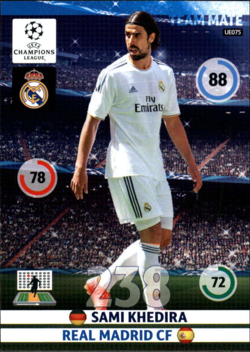2014-15 UEFA Champions League Adrenalyn XL Update Edition Soccer #UE075 Sami Khedira Real Madrid  Official Futbol Trading Card by Panini