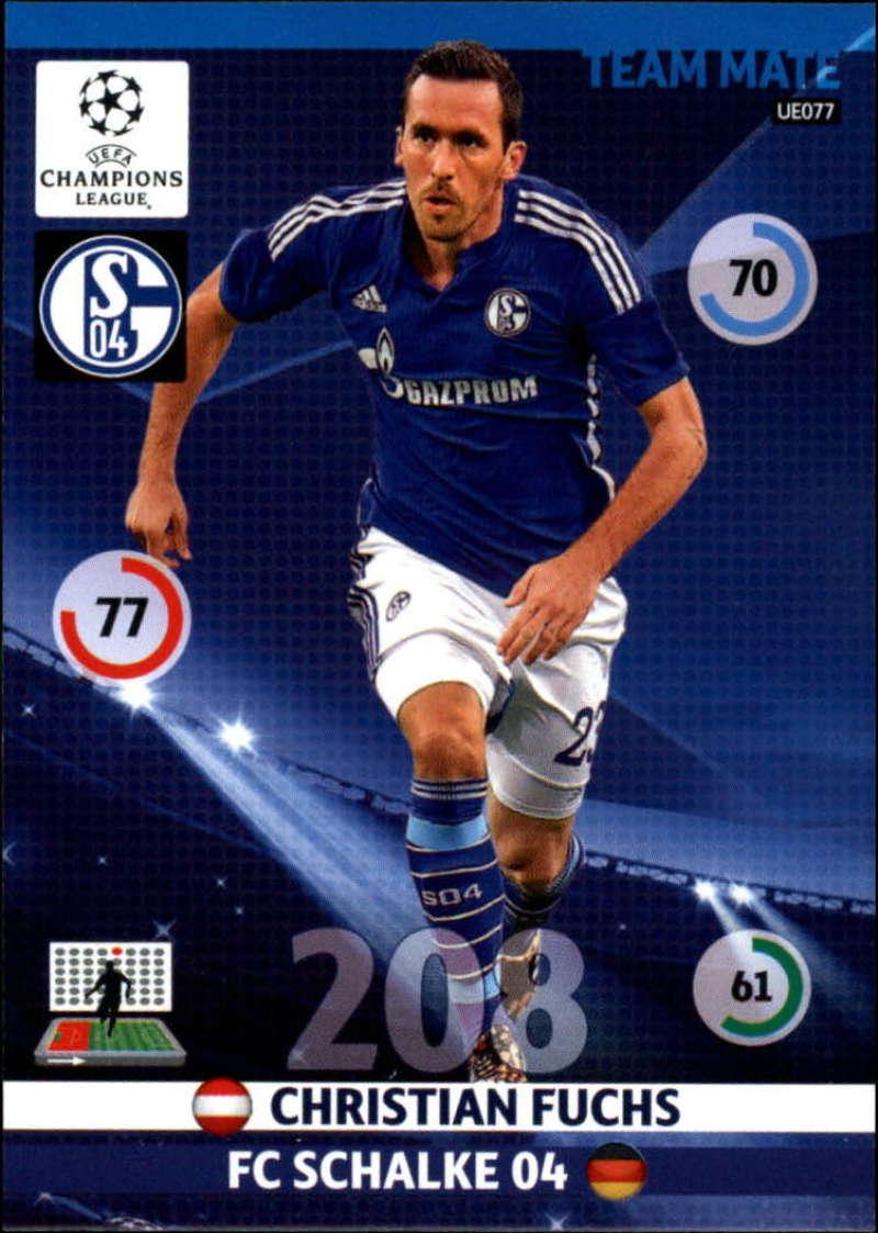 2014-15 UEFA Champions League Adrenalyn XL Update Edition Soccer #UE077 Christian Fuchs FC Schalke 04  Official Futbol Trading Card by Panini