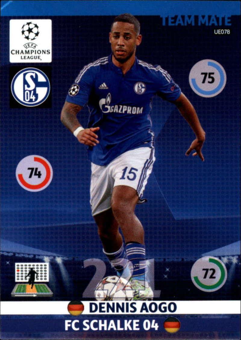 2014-15 UEFA Champions League Adrenalyn XL Update Edition Soccer #UE078 Dennis Aogo FC Schalke 04  Official Futbol Trading Card by Panini
