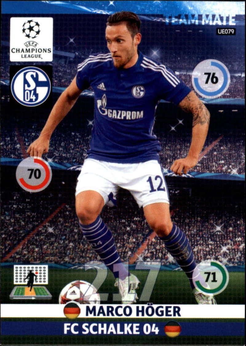 2014-15 UEFA Champions League Adrenalyn XL Update Edition Soccer #UE079 Marco Hoger FC Schalke 04  Official Futbol Trading Card by Panini