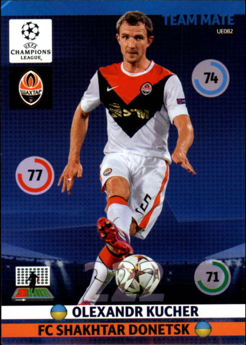 2014-15 UEFA Champions League Adrenalyn XL Update Edition Soccer #UE082 Olexandr Kucher Shakhtar Donetsk  Official Futbol Trading Card by Panini