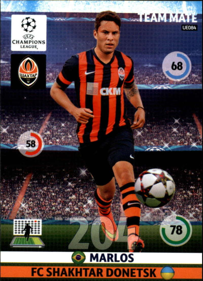 2014-15 UEFA Champions League Adrenalyn XL Update Edition Soccer #UE084 Marlos Shakhtar Donetsk  Official Futbol Trading Card by Panini