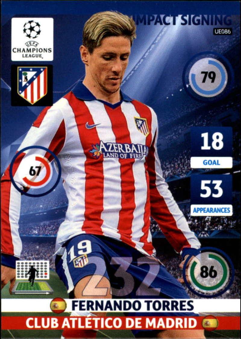 2014-15 UEFA Champions League Adrenalyn XL Update Edition Soccer #UE086 Fernando Torres Atletico Madrid  Official Futbol Trading Card by Panini