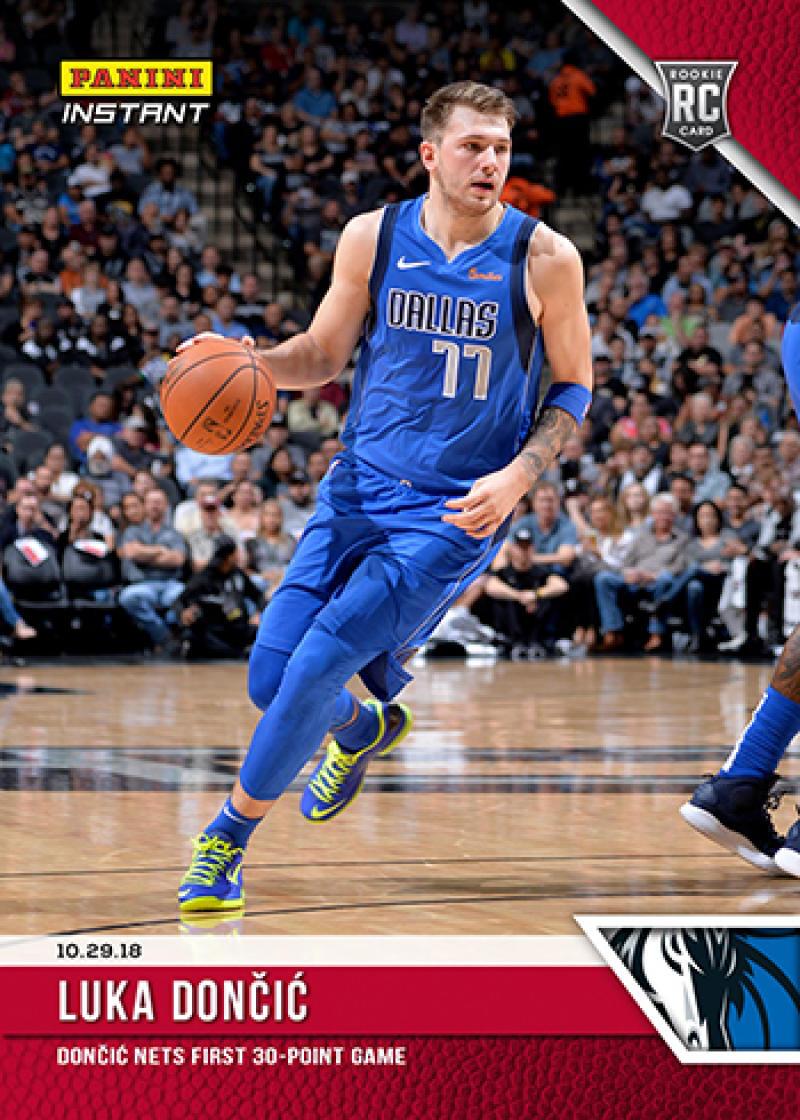2018-19 Panini Instant NBA Basketball #27 Luka Doncic Dallas Mavericks  RC Rookie Card  Online Exclusive Print Run 152