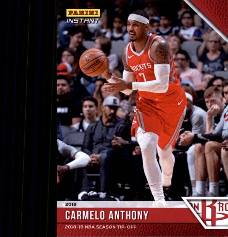 2018-19 Panini Instant NBA Basketball #3 Carmelo Anthony Houston Rockets  Online Exclusive Print Run 330