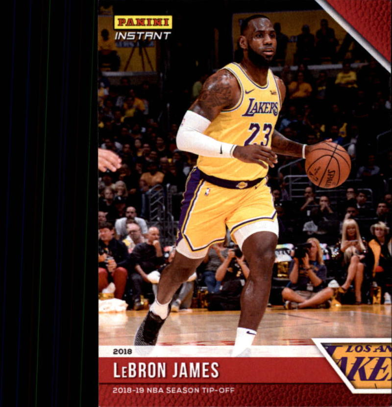 2018-19 Panini Instant NBA Basketball #4 LeBron James Los Angeles Lakers  Online Exclusive Print Run 330