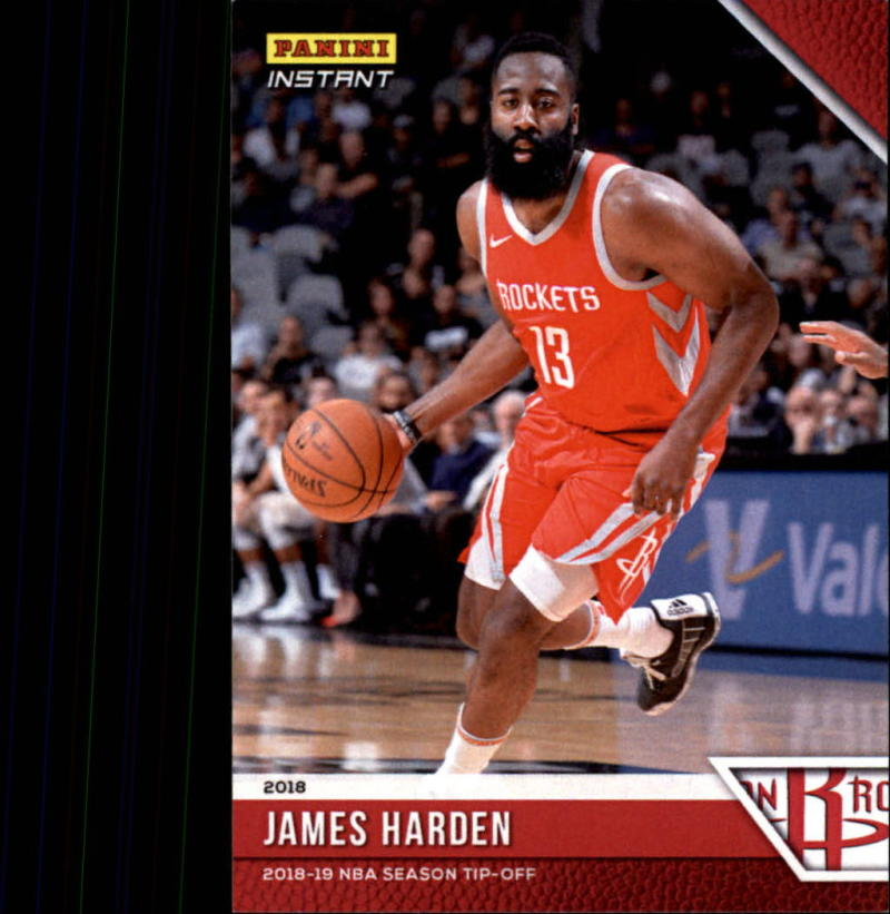 2018-19 Panini Instant NBA Basketball #6 James Harden Houston Rockets  Online Exclusive Print Run 330