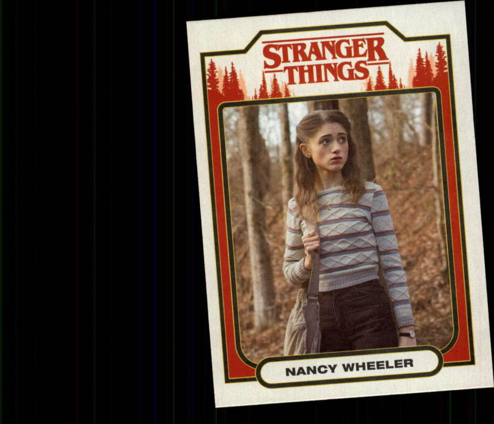2018 Topps Stranger Things Season 1 Character Cards ST-8 Nancy Wheeler  Official Netflix Series Collector's Card