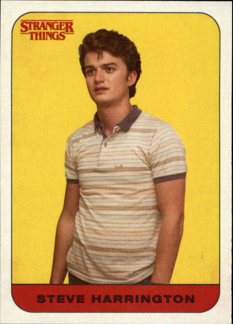 2018 Topps Stranger Things Season 1 Character Stickers #10 Steve Harrington  Official Netflix Series Collector's Card