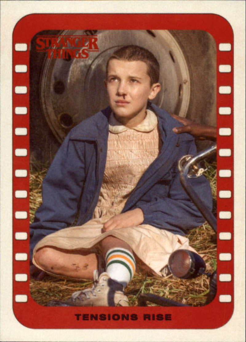 2018 Topps Stranger Things Season 1 Scenes Stickers #4 Tensions Rise  Official Netflix Series Collector's Card