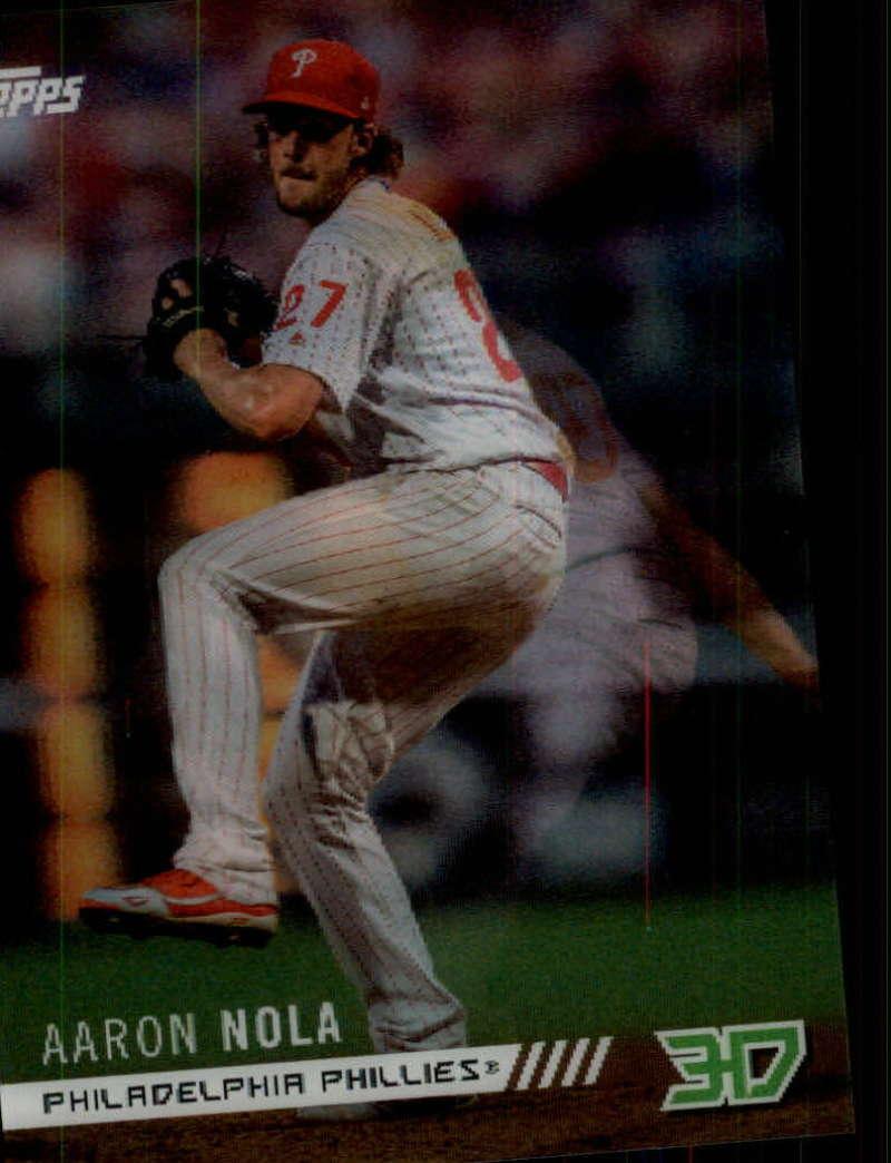 2018 Topps On Demand 3D Motion Insert Baseball M-7 Aaron Nola Philadelphia Phillies Very Limited Print Run