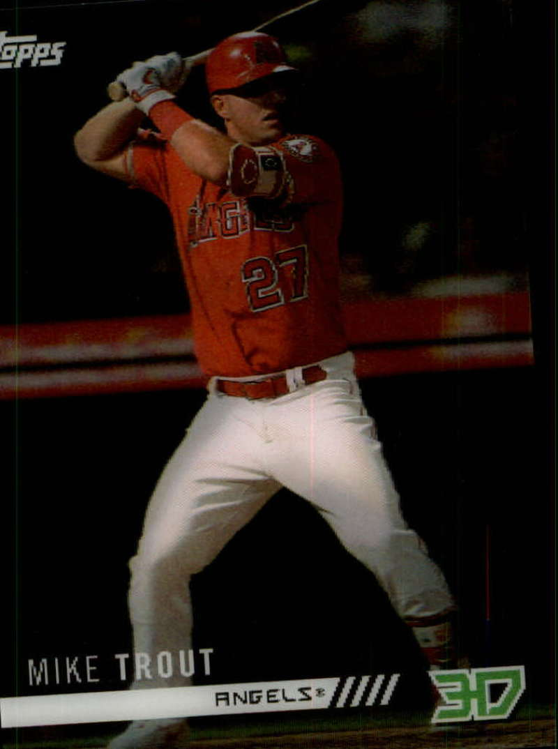 2018 Topps On Demand 3D Motion Insert Baseball M-11 Mike Trout Los Angeles Angels Very Limited Print Run