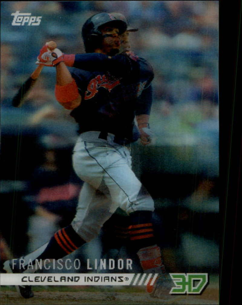 2018 Topps On Demand 3D Motion Insert Baseball M-19 Francisco Lindor Cleveland Indians Very Limited Print Run