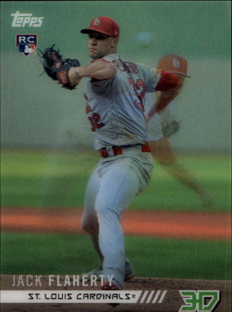 2018 Topps On Demand 3D Motion Insert Baseball M-26 Jack Flaherty St. Louis Cardinals RC Rookie Very Limited Print Run