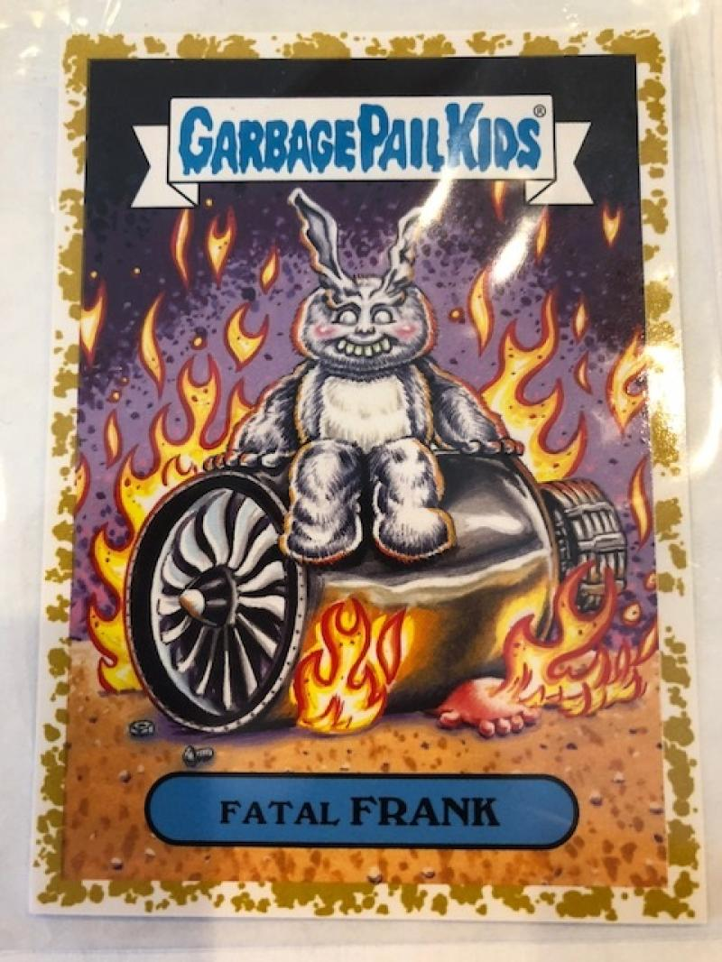 2018 Topps Garbage Pail Kids Oh The Horror-ible Modern Sci-Fi Stickers Fools Gold #3B FATAL FRANK  SER50  Collectible Trading Card Sticker
