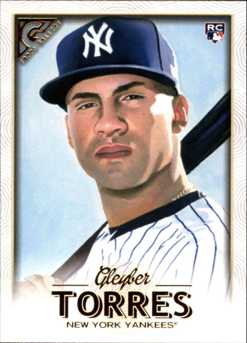 2018 Topps Gallery Baseball #89 Gleyber Torres RC Rookie New York Yankees  Official MLB Trading Card