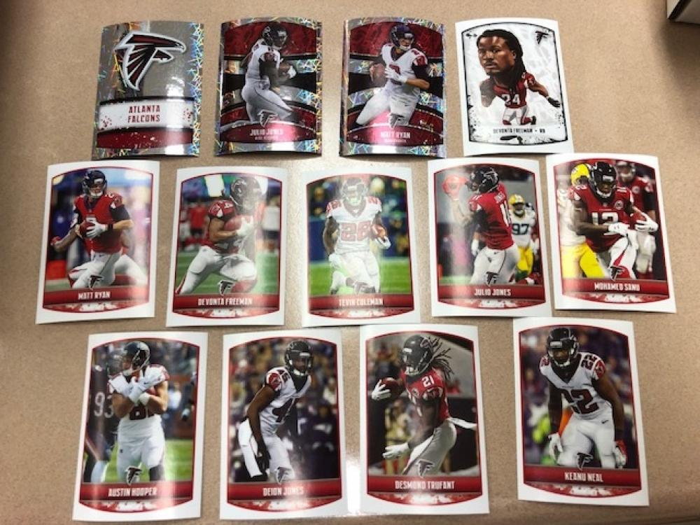 2018 Panini NFL Stickers Atlanta Falcons Team Set 13 Cards (2 by 3 inches)