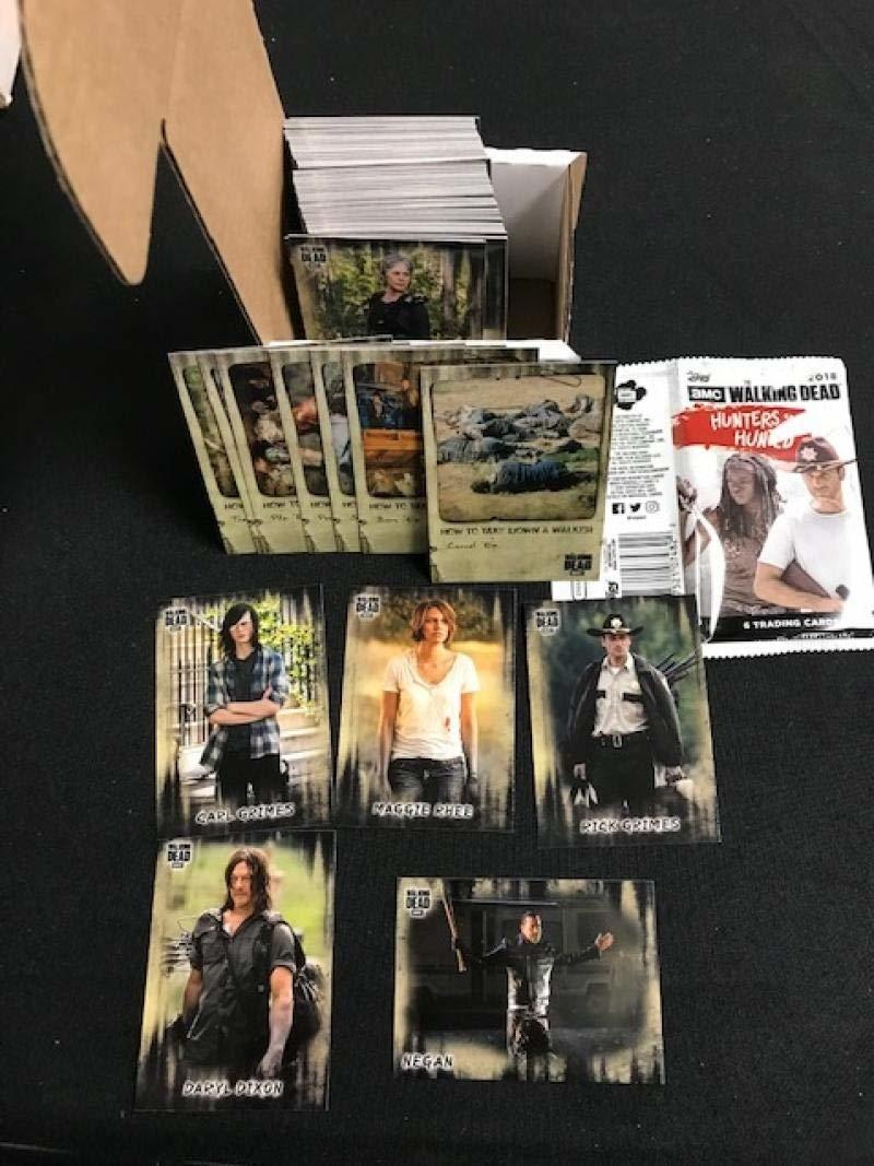 2018 Topps Walking Dead Hunters and the Hunted Hand Collated Base Set 100 Cards